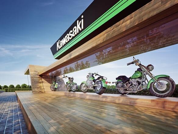 "Exhibition: ""Kawasaki in Rush"" / Visualization by Michał Nowak"