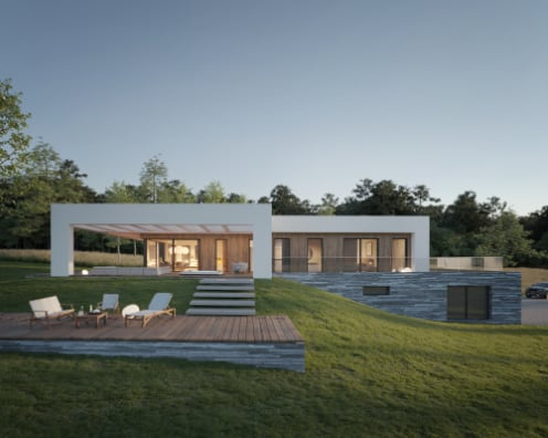 House on the hill / visualization: Michał Nowak